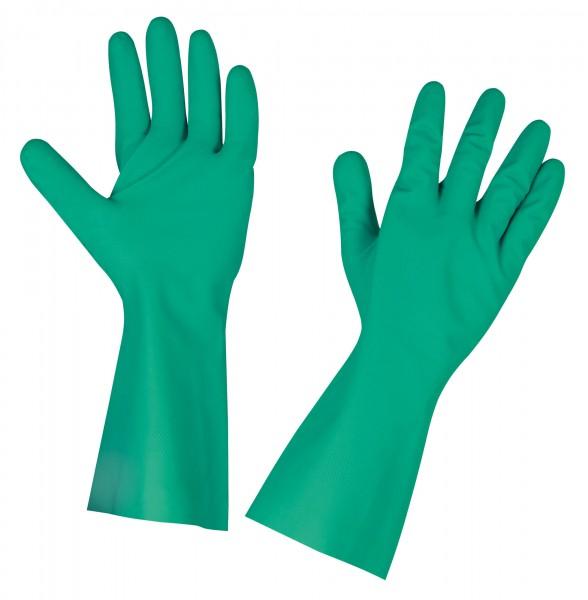 Chemiekalienhandschuh Chemex mit starker Nitrilbeschichtung, Arbeitshandschuh in der Farbe grün