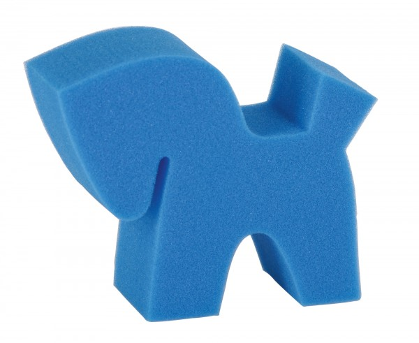 Putzschwamm Flecki blau, für den Nass-und Trockeneinsatz geeignet