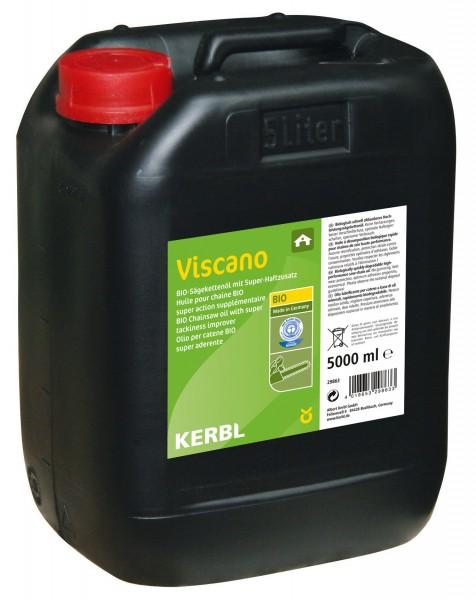 Viscano Bio-Sägekettenöl auf vegetarischer Basis für alle Hochleistungs-Motorsägen, 5 Liter