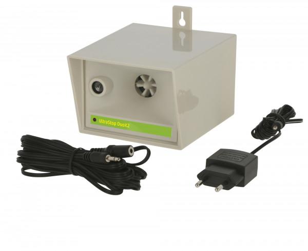 Ultraschallgerät DuoX2, vertreibt durch Ultraschall (20.000 - 65.000 Hz) Mäuse, Ratten, Katzen, Marder