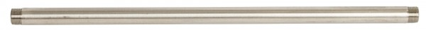 Anschlussrohr für Tränkebecken, Rohr aus Edelstahl 50 cm lang