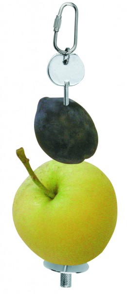 Halter aus Metall zum Aufspießen von Obst und Gemüse