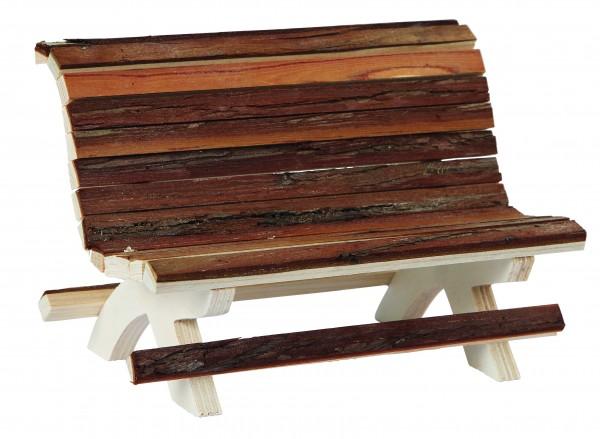 Holzbank aus 100% Naturholz, völlig natürliches und unbehandeltes Holz