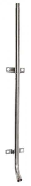 Anschlussrohr für Beissnippel, Rohr aus Edelstahl mit einem Abgang, 75 cm lang