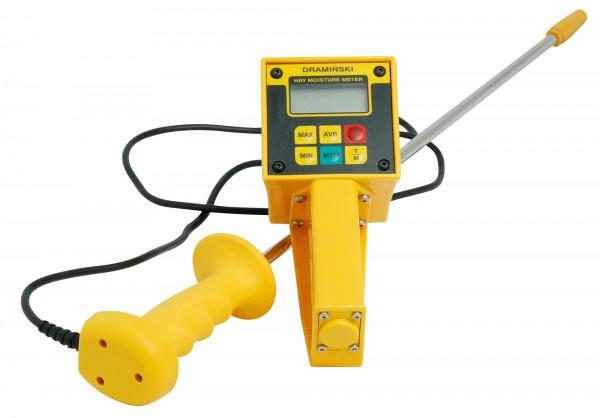 Tragbares Digitalgerät zur Bestimmung von Feuchte und Temperatur in gepresstem Heu und Stroh