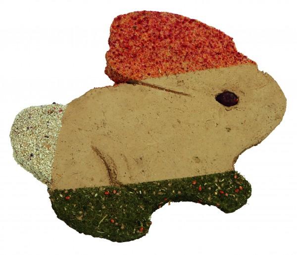 Kratzplatte aus Lehm mit Kräutern und Gemüse, 4 Stück