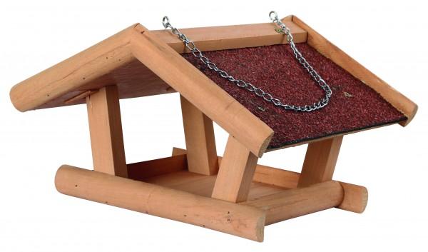 Futterhaus Selbstbausatz aus hochwertigem Holz, lasiert und mit Bitumendach