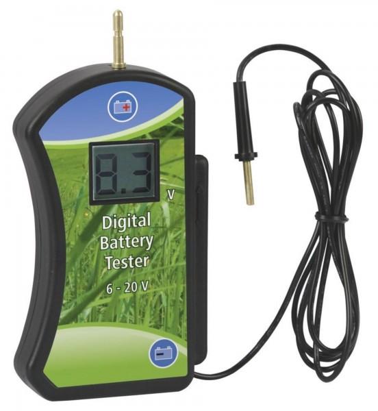 Batterietester Testbereich 6 - 20 V, die Leerlaufspannung sowie die Spannung unter Last wird angezeigt
