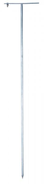 Erdstab aus feuerverzinktem Stahl Rundprofil, Länge 75 cm, mit M8 Schraube zum Anschluss für das Erdanschlusskabel