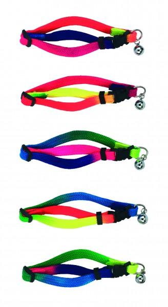 Farbenfrohes Katzenhalsband, individuell verstellbar, färbe nicht frei wählbar