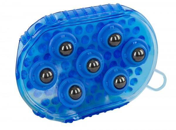 Magnet-Massage-Striegel für die wohltuende Massage Ihres Pferdes, Farbe blau
