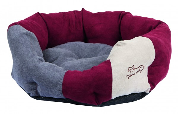 Kuschelbett Amelie für Hunde und Katzen, mit weichem Wendekissen, grau