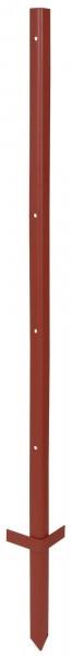 Winkelstahlpfahl 2 mm Stärke, Pfahl mit 4 Bohrungen, ein Weidezaunpfahl für ganzjährigen Einsatz sowie für schwierige Böden