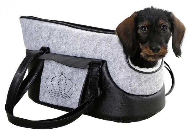 Hundetasche Chiara aus Kunstleder und Filz, in 2 Größen