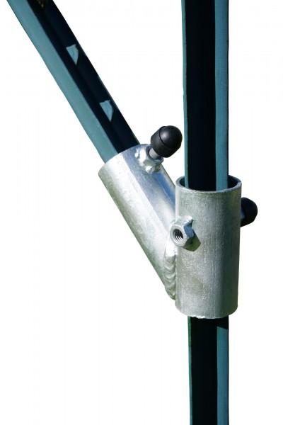 Zaunanfangsset für T-Post, die Lösung gegen instabile Tore und krumme Pfähle, Diagonalstrebe mit Befestigungsschraube