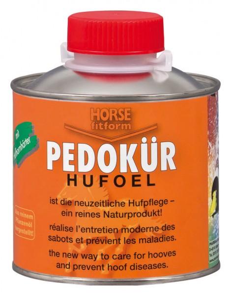 Huföl mit Hufhornhärter wirkt durch besondere Ingredienzien positiv und kräftigt die Hufe