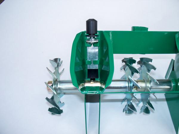Sämaschine für Gemüse- und Blumensamen, kleine Handsämaschine Duo-Ausführung mit Reihenabstand von 14 cm