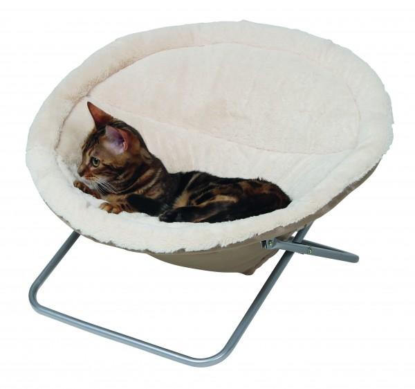 Kuscheliger Liege- und Schlafplatz für Katzen mit abnehmbarem Kissen, 100 % Polyester