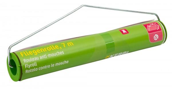 Fliegenrolle Klebefänger 7 m, mit Klebebeschichtung 100% giftfrei zur Bekämpfung fliegender Insekten