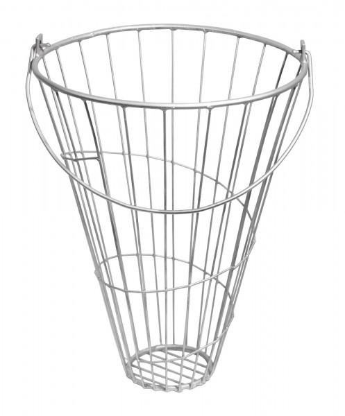 Futterkorb aus verzinktem Eisen zum vielfältigen Gebrauch, für Gartenerzeugnisse, Grünfutter oder Heu