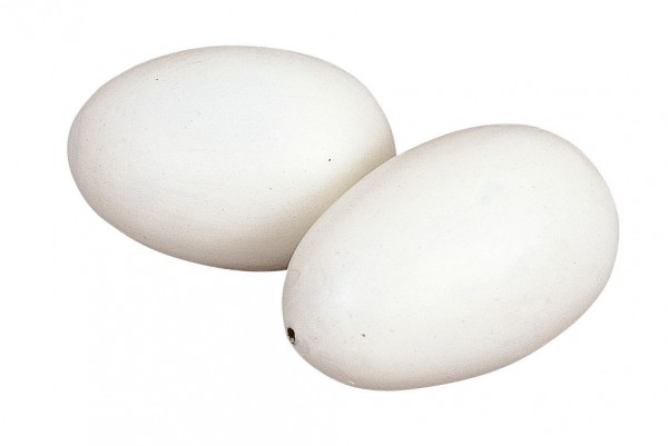 Nesteier aus Holz oder Ton, Eier zum Einlegen in das Hühnernest als Lege- und Bruthilfe