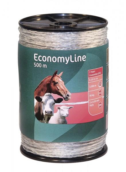 EconomyLine Monolitze transparent mit feuerverzinktem Eisendraht, 500 m auf einer Spule