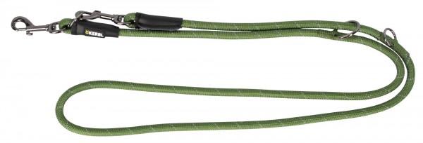 Tauleine in grün, runde Hundeleine aus stabilem Nylon, 200 cm lang