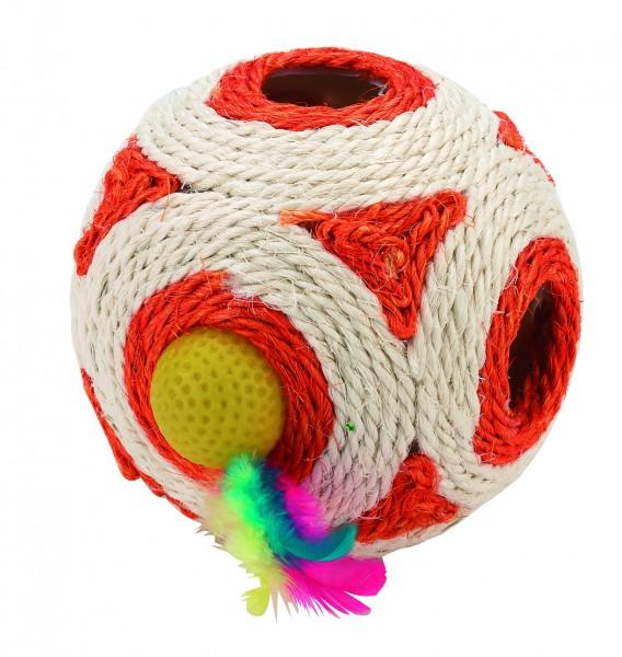 Sisalwürfel/ Spielwürfel mit Rassel im Inneren, Durchmesser: 12 cm