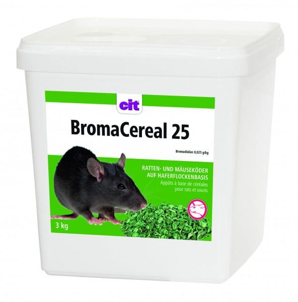 BromaCereal 25*, auslegefertiger Frischköder für Ratten und Mäuse aus Haferflocken