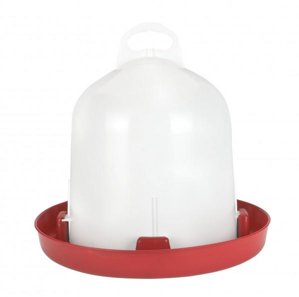 Doppelzylinder-Kunststofftränke Geflügeltränke für 6 Liter Inhalt, lebensmittelecht