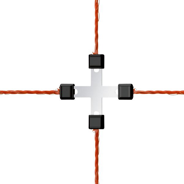 Weidezaunnetz-Reparatur Litzclip-Kreuzverbinder 5er Pack, original Litzclip® aus Edelstahl