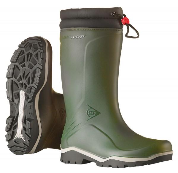 Winterstiefel Dunlop® Blizzard, warm gefütterte Arbeitsstiefel mit wasserdichten Stulpen und Kordelzug