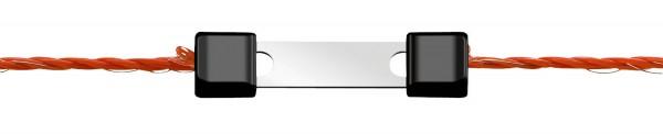 Litzenverbinder Litzclip® Verbinder aus Edelstahl, die einfache Lösung für gerissene Weidezaunlitze