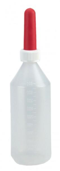 Milchflasche besonders für Grossvieh rund 1 Liter Inhalt