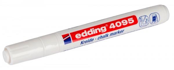 edding 4095, weißer Kreidestift für geschlossene Flächen, feucht abwischbar