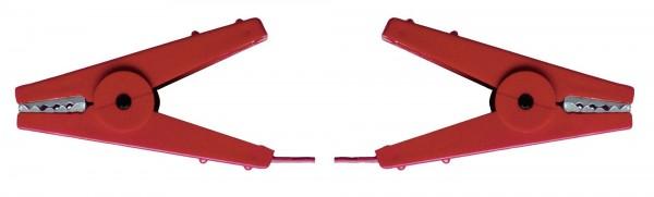 Zaunverbindungskabel mit zwei robusten Krokodilklemmen aus Edelstahl