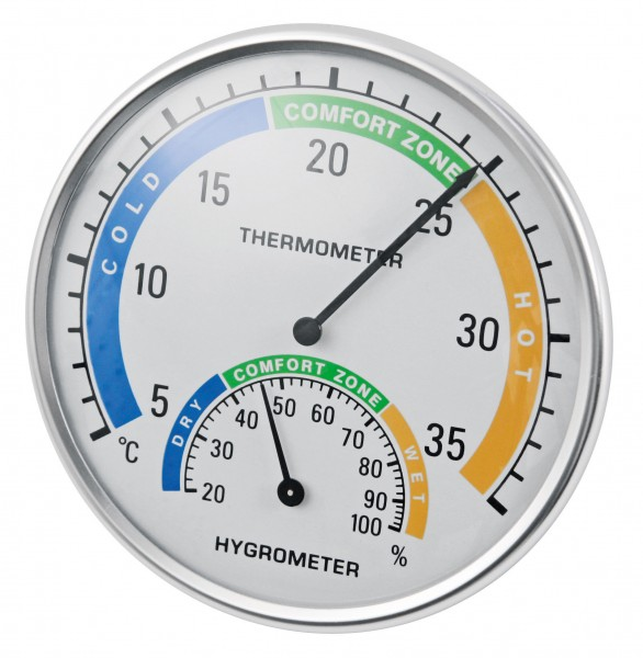 Thermometer und Hygrometer in einem Gerät zur Messung von Temperatur und Luftfeuchtigkeit