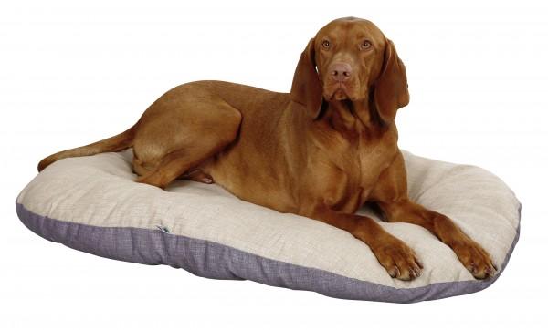 Liegekissen Loneta, ovales Hundekissen, ideal für Körbe