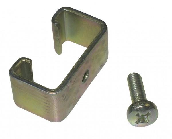 Universalklammer Set T-Post bestehend aus Spange und Befestigungsschrauben, Befestigungsmaterial für T-Post Isolatoren