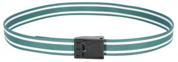 Halsmarkierungsband mit stabilem Klemmverschluss, Markierungsband grün/ weiß für Rinder
