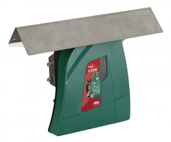 Dach und Modulhalter für Weidezaungeräte, Metalldach mit Montagemöglichkeit eines Solarpanels