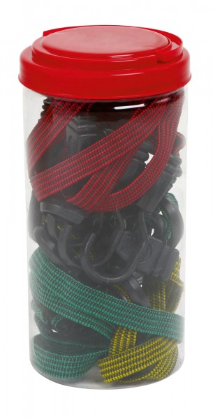 Flachexpander-Set, 8-teilig, in 3 Farben, in praktischer Aufbewahrungsdose
