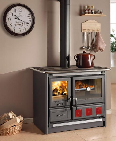 Küchenherd, Holz-, Kohleherd ROSA XXL, schwarz