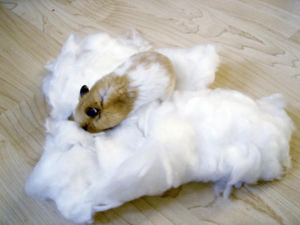 Hamsterwatte in weiß, für Hamster und andere Nager, aus umweltverträglicher und weicher Viskosefaser