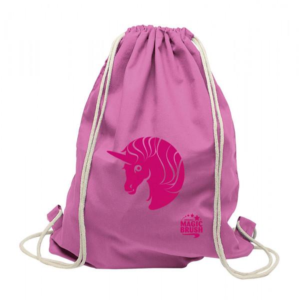 MagicBrush Bag Unicorn - aus bester Baumwollqualität, pink