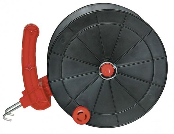 Euro Haspel Big mit Metallhaken, Weidezaunhaspel in großer, robuster Ausführung für Elektroseile, -bänder und -Litzen geeignet