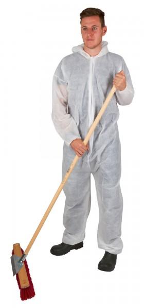 Einwegoverall Basic weiß in den Größen M- XXL, schützende Arbeitskleidung für viele Bereiche