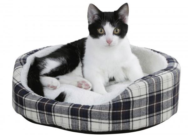 Kuschelbett Milky für kleine Hunde und Katzen im Caro-Design