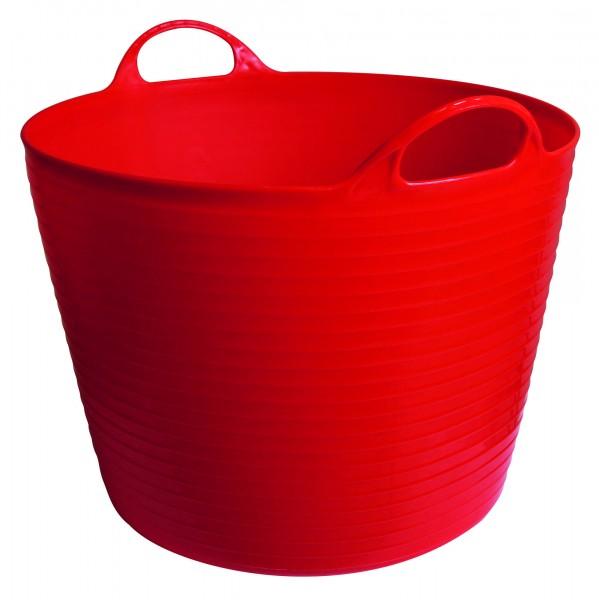 Flexibler Trog FlexBag, Behälter in der Farbe rot, flexibel und trotzdem stabil für Wasser, Futter, Gartenarbeit und wo immer er gebraucht wird