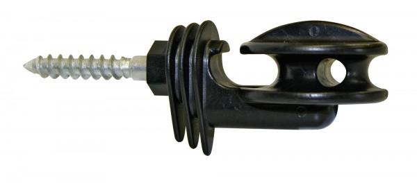 Eckisolator Super, Isolator in der Farbe schwarz, für Seile, Drähte und Litzen geeignet